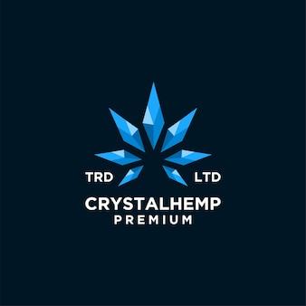 Logotipo de vetor de cânhamo de cristal premium