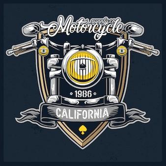 Logotipo de vetor de farol de motocicleta
