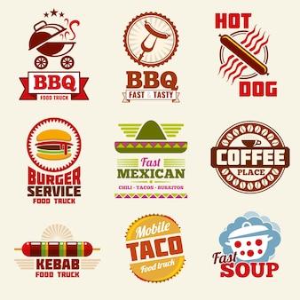 Logotipo de vetor de fast-food
