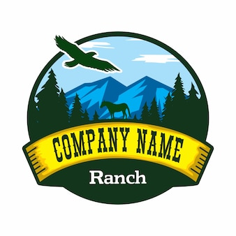Logotipo de vetor de fazenda