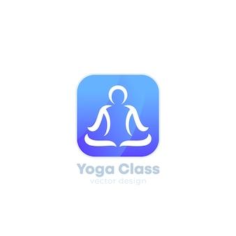 Logotipo de vetor de ioga para aplicativos