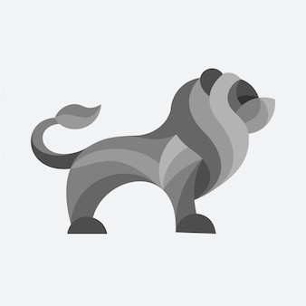 Logotipo de vetor de leão