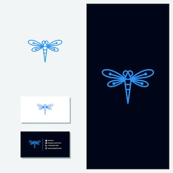Logotipo de vetor de libélula