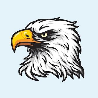 Logotipo de vetor de mascote de cabeça de águia