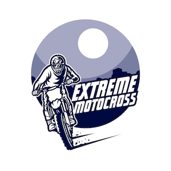 Logotipo de vetor de motocross, freestyle de motocross