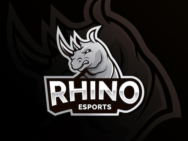Logotipo de vetor de rinoceronte