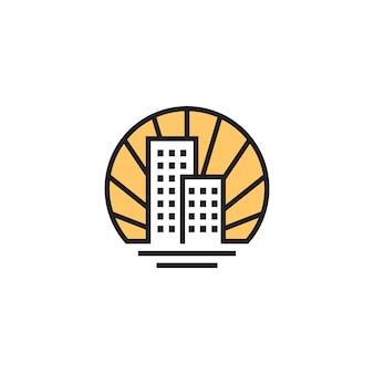 Logotipo de vetor linear de casa imobiliária