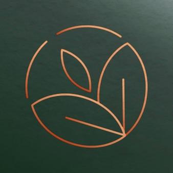 Logotipo de vetor tropical para design de beleza de bem-estar em estilo luxuoso