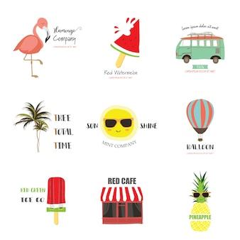 Logotipo de viagem bonito para loja de criança