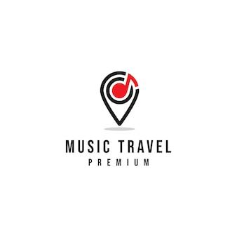 Logotipo de viagem de música