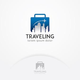 Logotipo de viagem