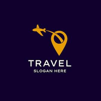 Logotipo de viagens simples