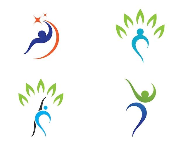 Logotipo de vida saudável
