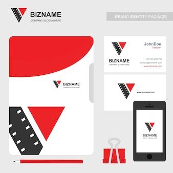 Logotipo de vídeo e cartão de visita