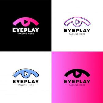 Logotipo de vídeo eye
