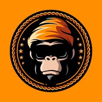 Logotipo de vidros de macaco hipo