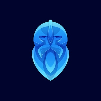Logotipo de viking de cor moderna