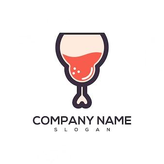Logotipo de vinho de galinha