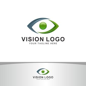 Logotipo de visão abstrata