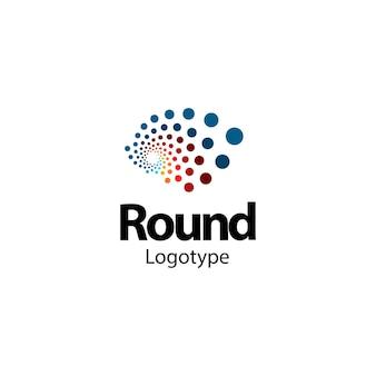 Logotipo de vórtice de pontos abstratos design gráfico futurista de logotipo para medicina de tecnologia de inovação