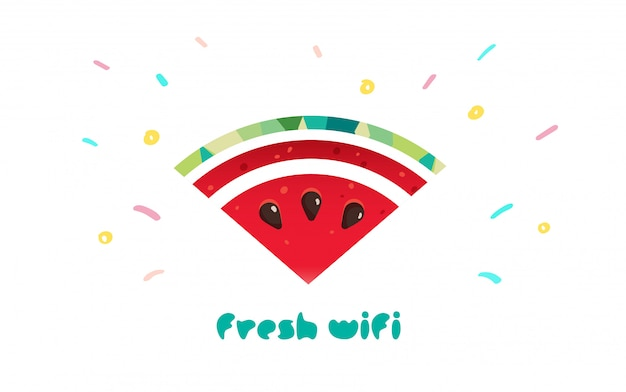 Logotipo de wifi fresco