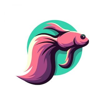 Logotipo decorativo peixe