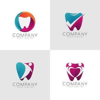 Logotipo dental dentário