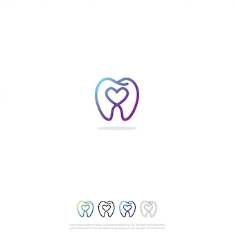 Logotipo dental do amor