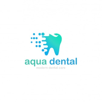 Logotipo dental do aqua