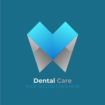 Logotipo dental estilo origami