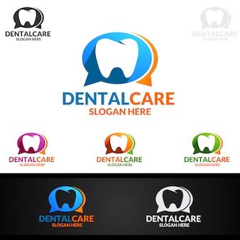 Logotipo dental, logotipo do stomatology do dentista