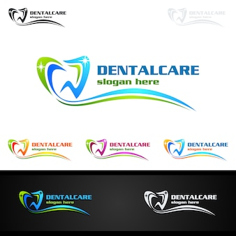 Logotipo dental, logotipo do stomatology do dentista