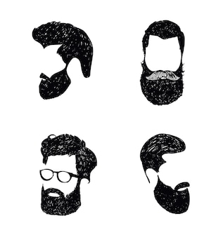 Logotipo desenhado à mão da barbearia