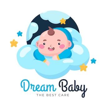 Logotipo detalhado da loja dos melhores cuidados com o bebê dos sonhos