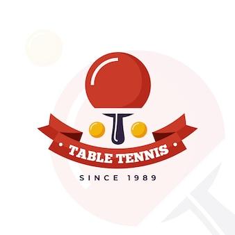 Logotipo detalhado de tênis de mesa
