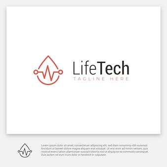 Logotipo digital de saúde