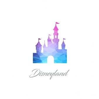 Logotipo disney land monumento polygon