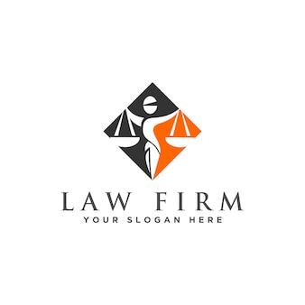 Logotipo do advogado e da lei