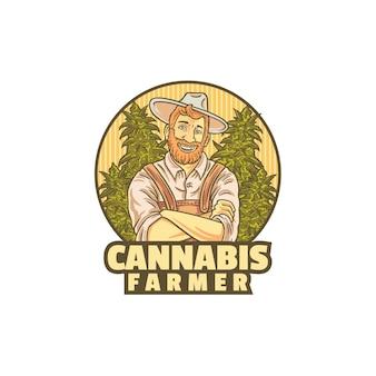 Logotipo do agricultor de cannabis