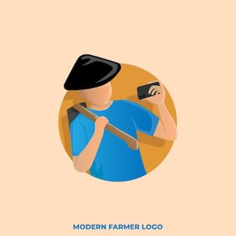 Logotipo do agricultor moderno