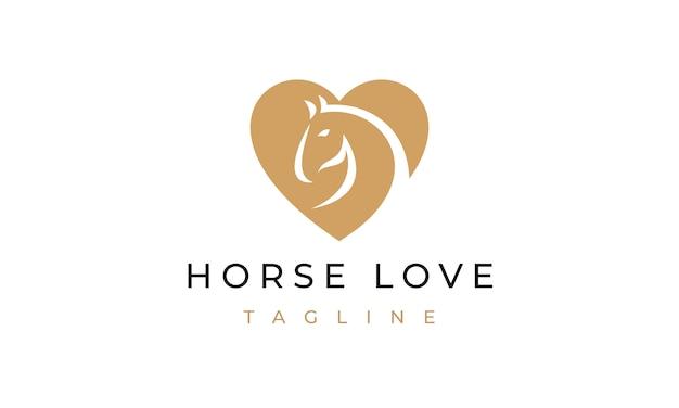 Logotipo do amor do cavalo