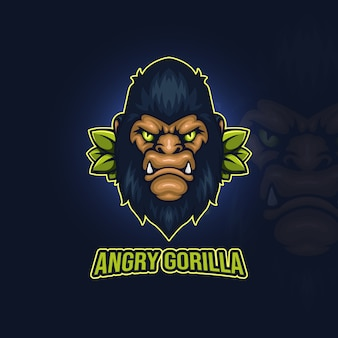 Logotipo do angry gorilla esport