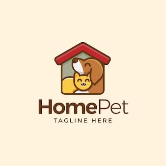 Logotipo do animal de estimação em casa