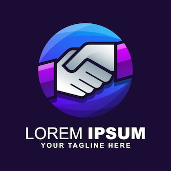Logotipo do aperto de mão