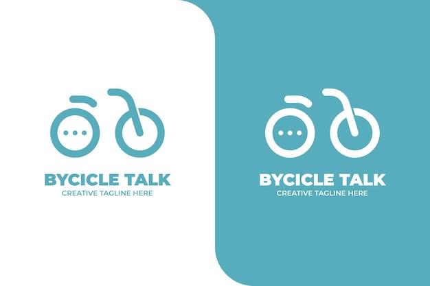 Logotipo do aplicativo do messenger para bate-papo em bolhas de bicicleta