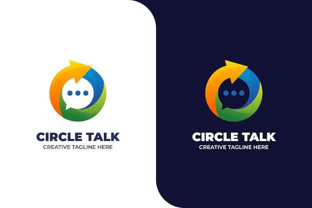 Logotipo do aplicativo móvel circle talk chat messenger