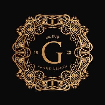 Logotipo do art nouveau frame