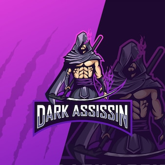 Logotipo do assassino escuro