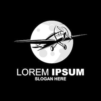 Logotipo do avião vintage