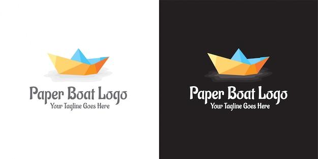 Logotipo do barco de papel